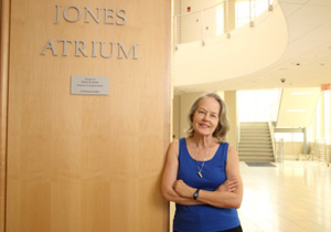 Anita Jones, Jones Atrium, Rice Hall, June 2014